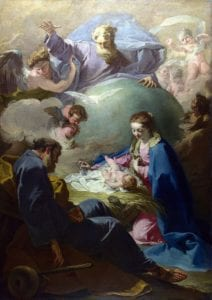 与父神和圣灵的诞生(英语:The Nativity with God the Father and the Holy Ghost), 詹巴蒂斯塔·皮托尼(意大利语:Giambattisa Pittoni), 1740