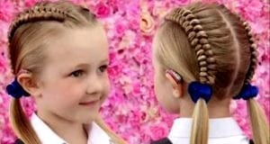 女童最佳发型(视频截图)