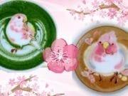 彩色拿铁艺术:日本咖啡拉花鸟儿踏青(图片来源:欧洲希望之声)