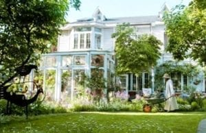她花14年在家裡造了400㎡莫奈花園,美如仙境(视频截图)