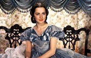奥丽维亚·德哈维兰在1939年电影《乱世佳人》中饰演梅兰妮(图片来源:维基百科)
