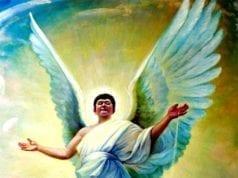 凭借世界各种《预言》的启示,寻找创世主(图片来源:真善忍美展)