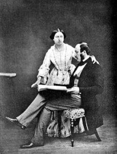 艾伯特亲王和维多利亚女王,摄于1854