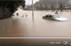 3月25日南寧暴雨,內澇嚴重。(視頻截圖)