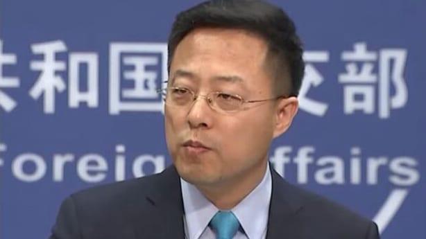 """中国(共)外交部发言人赵立坚首度回应""""推特门""""事件,网友回应:就这水平还敢和美国叫板?(网络截图)"""