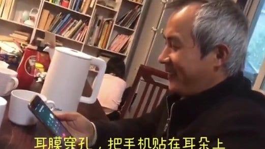 李和平与刚出狱的709律师王全璋通话。(王峭岭推特视频截图)