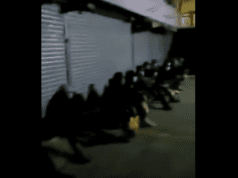 网传廣州大量非洲人遭房东驱赶,露宿街头,成为巨大隐患。(視頻截圖)