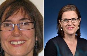 新任澳大利亞駐香港及澳門總領事的沃德(Elizabeth Ward/左),前任總領事彭朗寧(Michaela Browning/右)。 (澳大利亞政府網站)