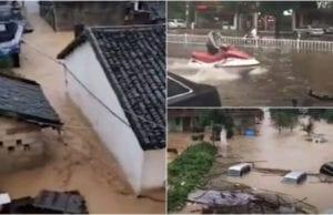 2020年6月以来,南方8省洪水泛滥(视频截图)