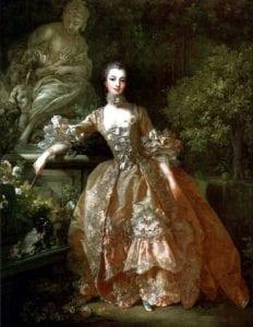 蓬帕杜夫人,1759年弗朗索瓦·布歇作品,洛可可风格服饰。