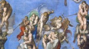 《最后的审判》——画作中吹起长长号角的天使,召告所有的生命都要受审