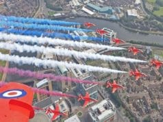 8月15日,英国纪念对日战争胜利75周年, 图中为纪念活动照片(英国国防部图片)