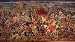 1525年的帕维亚之战,神圣罗马帝国皇帝查理五世打败法国国王弗朗索瓦一世。(图片来源:维基百科)