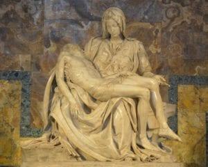 米开朗基罗著名作品《哀悼耶稣》