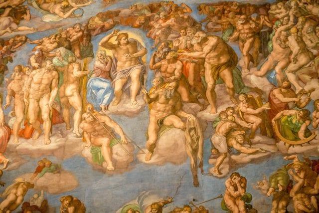 米开朗基罗晚年作品《最后的审判》