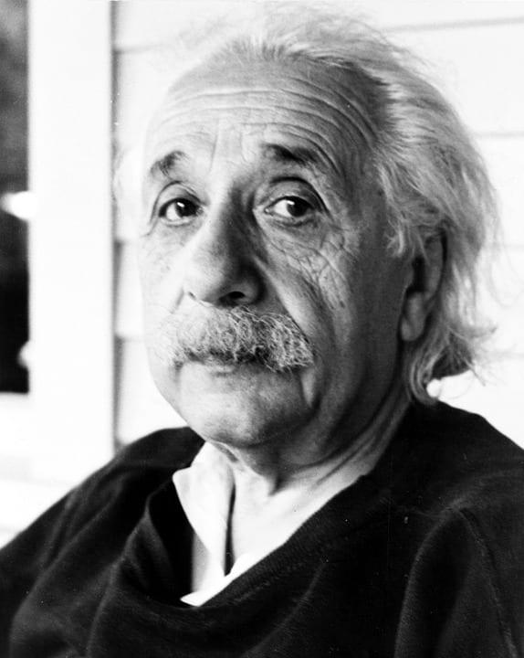 晚年时的爱因斯坦