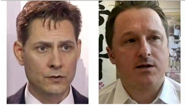 加拿大前外交官康明凯(左)及商人史佩弗(右)2018年底相继在中国被捕,自此未公开露面。