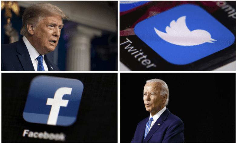 关于噤声拜登丑闻一事,推特及脸书CEO将被参议院司法委员会传唤。(AP)