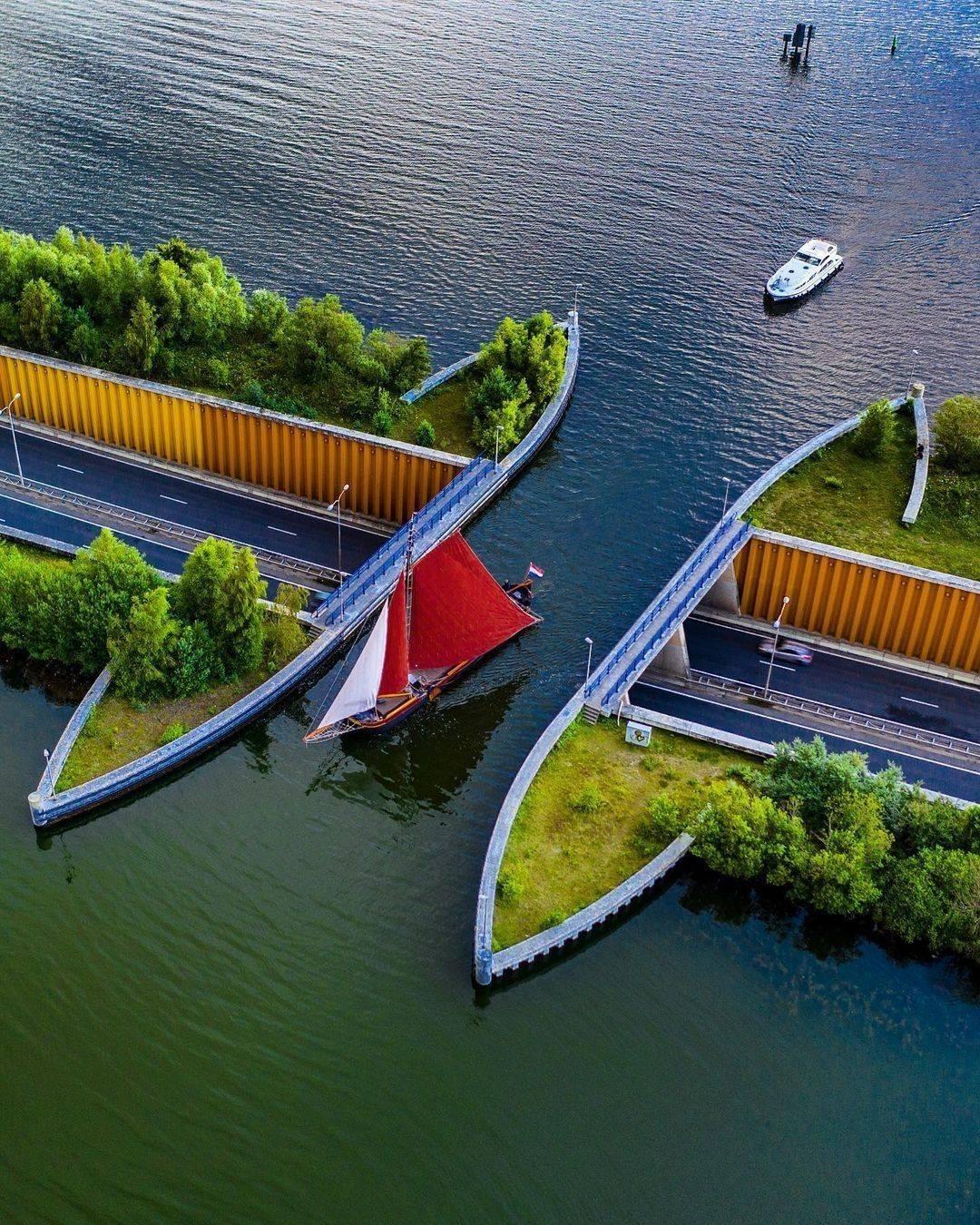 荷兰 费吕沃湖桥 水桥