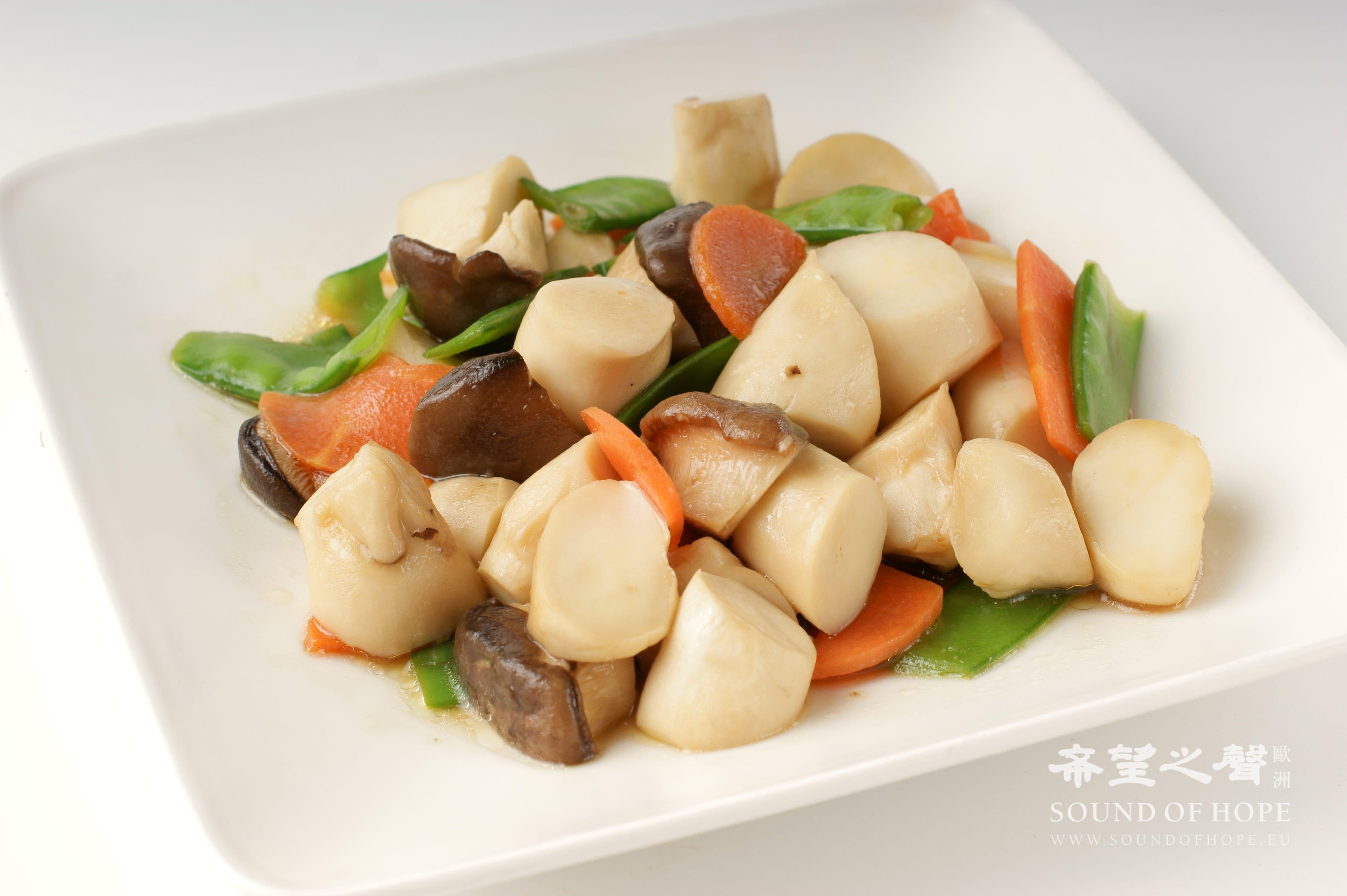 酱烧杏鲍菇(图片来源:欧洲希望之声 麦克)